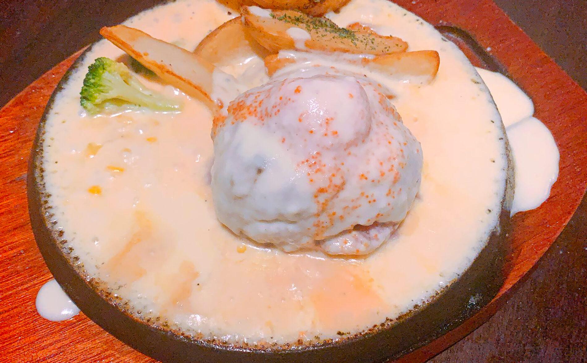 ひしめき亭 明太チーズハンバーグ